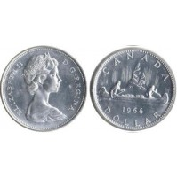 Canadá - 1 Dólar de Plata 1966