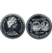 Canadá - 1 Dólar de 1974 de Plata - Winnipeg