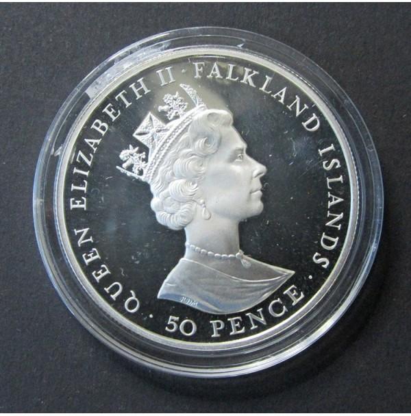 Falkland (Reino Unido) -  50 Peniques de 1952