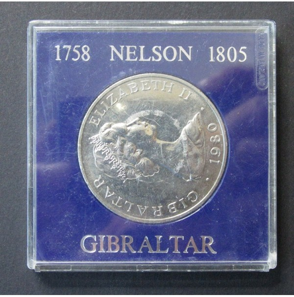 Gibraltar - 1 Corona 1980 - Nelson 1758-1805