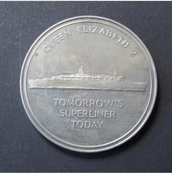 Medalla Cunard Queen Elizabeth