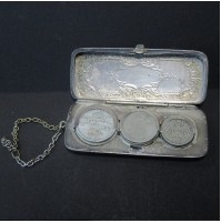 Monedero de plata antiguo de  GER. SILVER W.H.S.CO