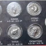 Set de 12 monedas con los Césares del Imperio Romano
