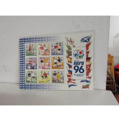 Reino Unido - Serie de sellos oficiales Eurocopa de Fútbol de1996